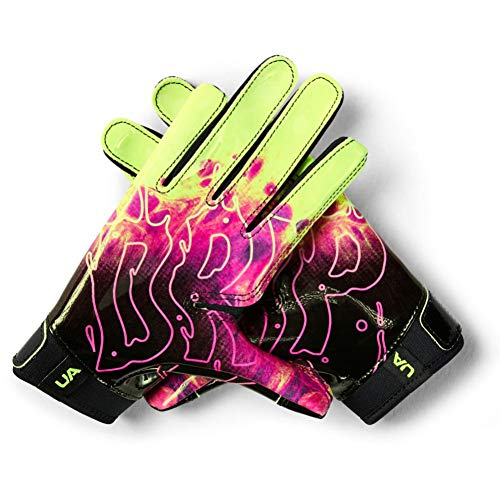 Under Armour Boys' F7 Youth Limited Edition Football Gloves , Black (001)/X-Ray , Youth Large