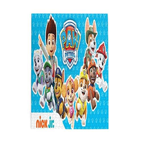 Rompecabezas de la Patrulla Canina para adultos, 1000 piezas, rompecabezas de madera, juguete de descompresión para adultos y niños