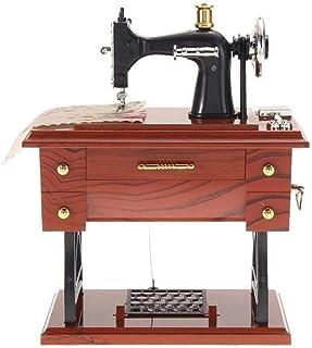 Couture Rétro Bois Métal Music Machine Boîte à Bijoux mécaniques Boîtes Home Decor Kid Cadeau d'anniversaire Boîte à Musiq...