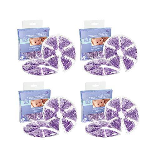 Terapia de frío/calor para el pecho de Lansinoh, TheraPearl. Para mastitis, ingurgitaciones y pechos congestionados. 4 paquetes de 2 unidades cada uno.