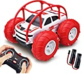 Voiture Télécommandée 60Min d'Autonomie pour Enfant, 360° Rotation avec LED Colorée - Étanche Voiture Radiocommandée Rapide Tout Terrain 4WD 2.4GHz Jouet Voiture de Course Garçon Fille 3-12 Ans