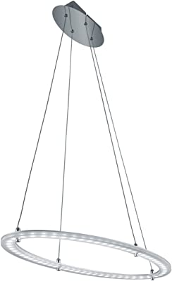 Trio Leuchten LED-Pendelleuchte Toronto aluminium/chrom 379412705