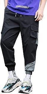 ZhixiaYS Overalls Pants for Men, Men's Fashion Pockets Sportwear Comfortable Drawstring Pants Trousers