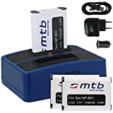 3X Baterías + Cargador Doble (USB/Coche/Corriente) para Sony NP-BX1 / Sony Action CAM HDR-AS10, AS15, AS20, AS30(V), AS100V, AS200V / FDR-X1000V. v. Lista