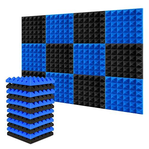 Espuma Acústica AGPtEK, 30.5 * 30.5 * 5 CM paquete de 12 paneles de...