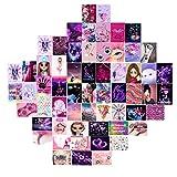 Rose Aesthetic Wall Collage Kit, 60PCS Creative Photo Wall Collage Set Esthétique DIY Room Decor Art Prints Collage Kit Affiche pour chambre à coucher, meilleur cadeau pour adolescentes et les femmes