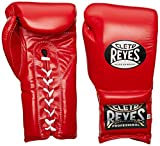 Cleto Reyes Lace Boxing Training Gloves, 18 oz., Red