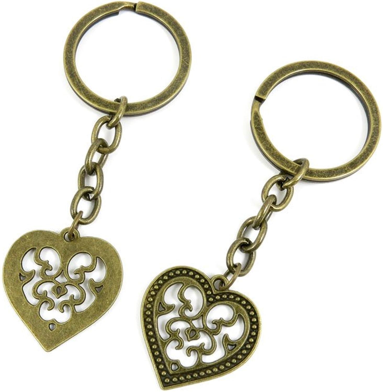 160 Pieces Fashion Jewelry Keyring Keychain Door Car Key Tag Ring Chain Supplier Supply Wholesale Bulk Lots L8QI6 Heart Peach