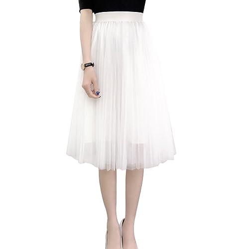 74b57b9491 Women's A Line Knee Length Tutu Tulle Prom Party Dance Skirt