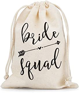 12 Pcs Pack Wedding Party Welcome Bags,Bachelorette Party Hangover Kit,5x7 inches Cotton Party Favor Holder Bags