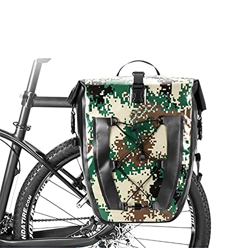 WYZQ Bolsa de Maletero de Bicicleta, 27L de Gran Capacidad, Bicicleta de Carretera de montaña, Impermeable, Asiento Trasero, portaequipajes, portaequipajes, cestas