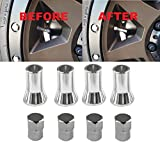 Muzzys C20018 TR414 - Universal TPMS Chrome Valve Stem Sleeve Covers and Cap Dress Up Kit- Set of 4 - FITS All TPMS Rubber Valve Stems for All Make and Model Cars and Trucks with TPMS Sensors