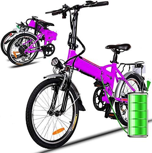 Bicicletta Elettrica City Bike pieghevole a Pedalata Assistita, Ruote 26'', Velocità 25km/h, 36V 8AH