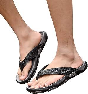Arrival Summer Men's Shoe Open Toe Slippers Fashion Beach Shoes Massage Bathroom Flip Flops (Color : Gray, Shoe Size : 41)