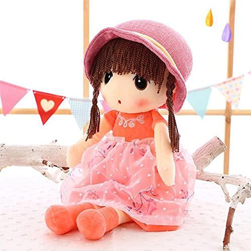 TRGCJGH Peluches Lindas Muñecas Princesas Almohadas para Dormir para Niñas Y Niños,C-60cm