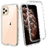 BENTOBEN Funda para iPhone 11 Pro Max Transparente Cristalina 3 en 1 Combinada Dura PC Bumper y Silicona TPU Suave Resistente Cuerpo completo Antigolpe Cubierta Protectora para iPhone 11 Pro Max 6.5''