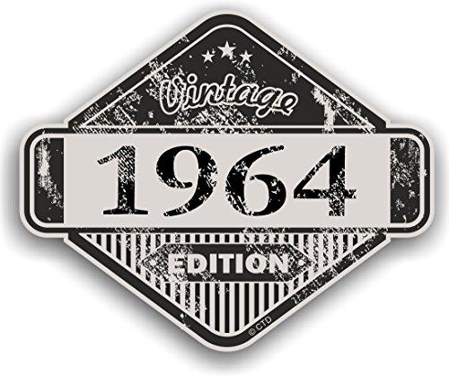 Distressed Aged Vintage 1964Edition Classic Retro Vinyl Auto Motorrad Cafe Racer...