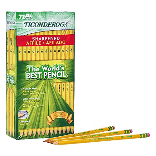 Ticonderoga Pencils, Wood-Cased #2, 72-Pack Now $11.99 (Was $21.29)