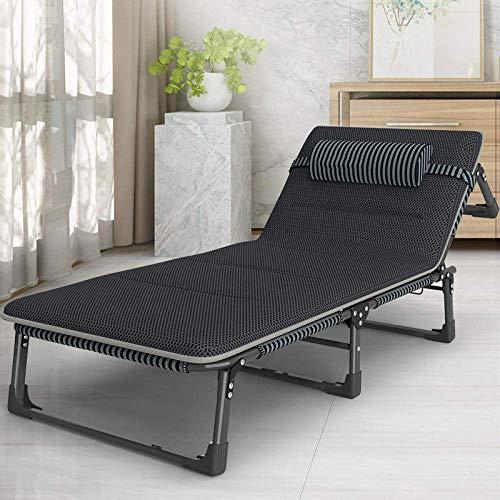Iyom Patio-Stühle im Freien, Sonnenliege Terrasse Klappbarer Strandgarten Camping Angel Liegestuhl, verstellbar, abnehmbare Kopfstütze, Swimmingpool/Liegestuhl im Freien