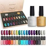 Lavender Violets 20pcs Glitter Gel Nail Polish Gift Set 18 Colour Base n