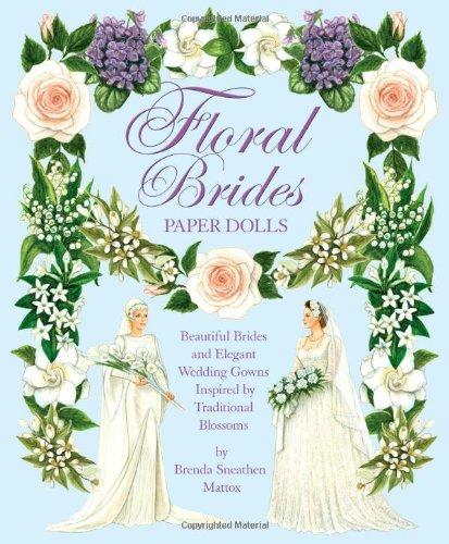 Floral Brides Paper Dolls