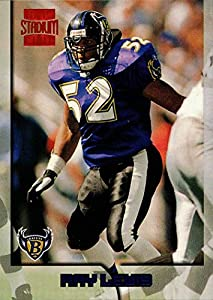 1996 Topps Stadium Club Football #351 Ray Lewis Rookie Card Baltimore Ravens