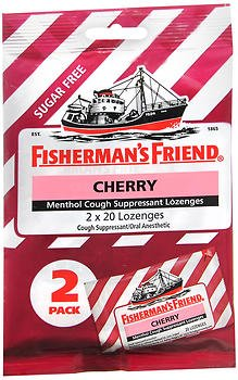 Fisherman's Friend Menthol Cough Suppressant Lozenges Cherry Sugar Free 2-Pack - 40 ct, Pack of 5