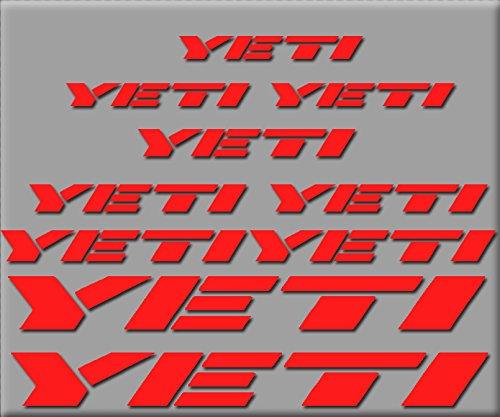 Ecoshirt QE-DN9N-HQXX Pegatinas Yeti R210 Vinilo Adesivi Decal Aufkleber Клей MTB Stickers Bike, Rojo