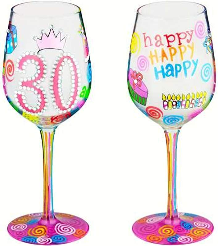 30 Another Year Bottom S Up Wine Glass