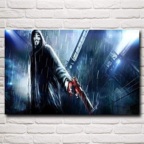 baodanla Geen frame Film V Voor Vendetta Masker Art Zijdedruk Poster muur Decoratieve Afbeeldingen Inches Shi