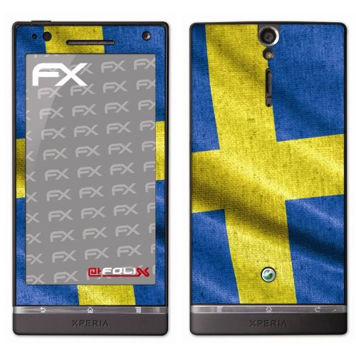 atFoliX voetbal EM 2012 vlag designfolie voor Sony Xperia S, Zweden, Afbeelding