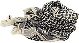 TACVASEN Men Military Shemagh Scarf Tactical Arab Keffiyeh Scarf Arabic Cotton Paintball Camouflage Head Scarf Airsoft Face Mask