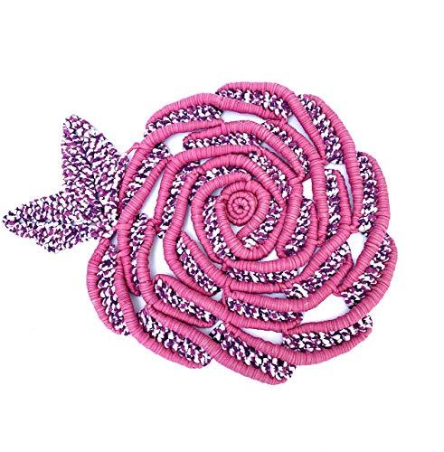 alfombra de trapillo con forma de flor