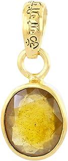 Skyjewels Natural 9 Ct Yellow Sapphire Loose Gemstone Panchdhatu Pendant