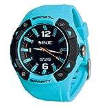 SEAC Sporty, Orologio Lifestyle all'Acqua 100 mt, Resistente Cinturino in Gomma Unisex Adulto,...