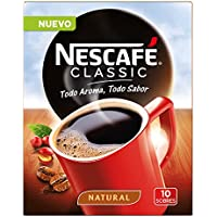 NESCAFÉ Café Classic Soluble Natural| Sobres | Paquete de 10 Sobres cada uno de 2g de Café
