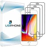 UsiPhone Lot de 3 Verre Trempé Compatible avec Iphone 7 Plus - Vitre Iphone 8 Plus - Film Ecran en Verre Trempe 9h - Protection Iphone 7 Plus - Protege Écran Iphone 8 Plus (5.5') Ecran Incassable