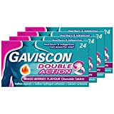 Gaviscon Double Action Mixed Berries, Multi Pack of 4 x 24 Tablets
