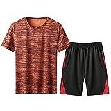 Masdkow Conjunto de Chándal Corto Hombre,Verano Camiseta Manga y Pantalon Transpirable y de Secado rápido Ideal para Gym Correr Conjunto De FúTbol