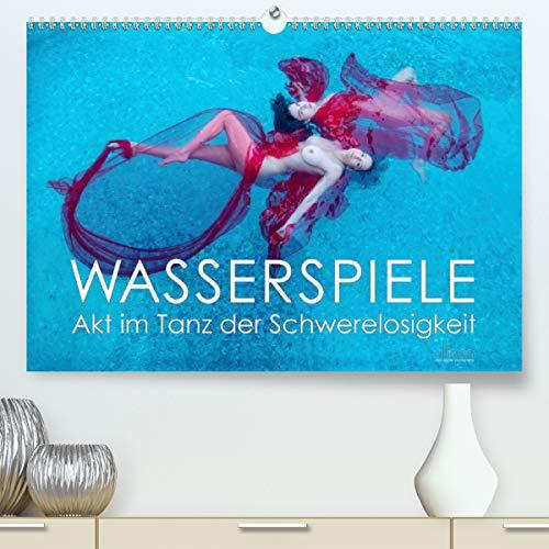 Wasserspiele - Akt im Tanz der Schwerelosigkeit (Premium-Kalender 2021 DIN A2 quer)