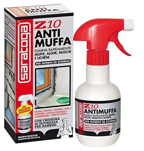 NUOVO Z10 ANTIMUFFA 250 ml Deterge e Rimuove Muffe Alghe Muschi Licheni Per Interni Ed Esterni
