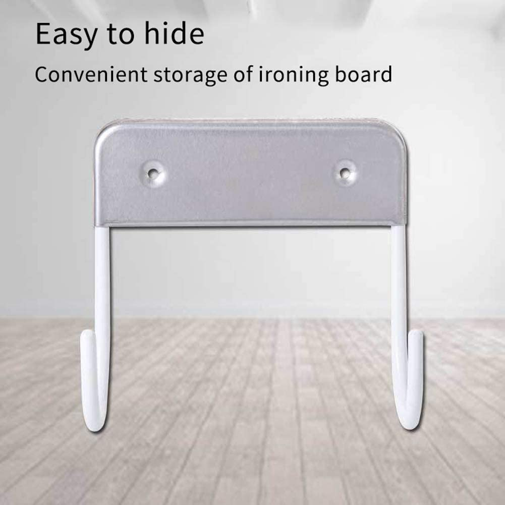 Wall Mount Ironing Board Hook Ironing Board Hanger Stainless Steel Hanging Closet Home Holder Iron Storage Solution