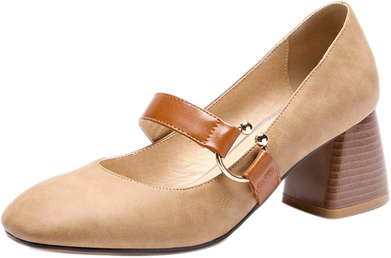 FANIMILA Girl Marry Jane Court shoes Buckle Strap