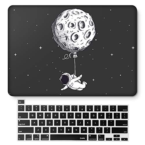 MacBook Pro13InchCase 2020 Release A2251 A2289 Hard Case Shell Cover & Keyboard Cover with Touch Bar and Touch ID for Apple 13inch MacBookProCase (Floating Moon)