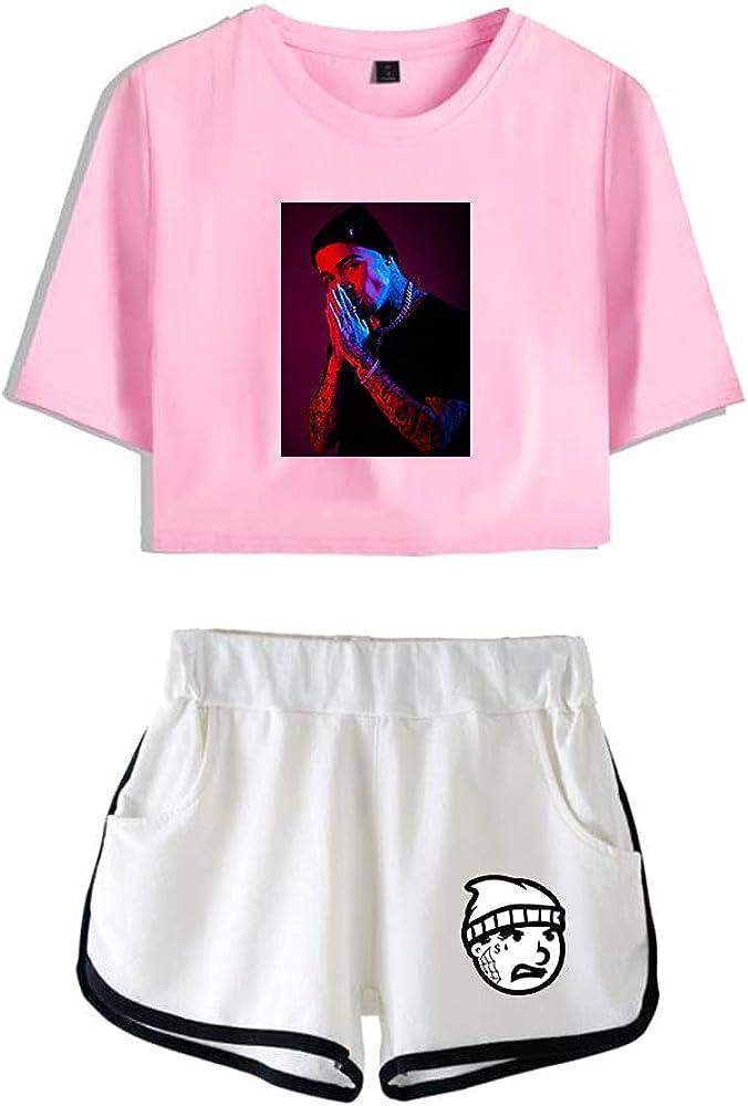 Tydres Gera MX 2 Piece Sets Hip Hop Short Sleeve Suit Womens Girl Set Casual Accessories Fashion Suit (PW-YM00723,S)