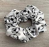 Sportybella Soccer Scrunchie, Soccer Hair Accessories, Premium Velvet No Crease Soccer Hair Scrunchies Gift for Girls