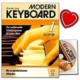 Modern Keyboard 1–Scuola con CD di Günter Loy–Il Programma scolastica Complete per tutte le età–con ausgeschriebenen akkorden + con herzfoermiger Note KLAMMER