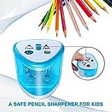 Elektrischer Anspitzer, spitzer elektrisch kleines elektrisches Zubehör für Kinder Schule Klassenraum, bleistiftspitzer von ARPDJK - 4