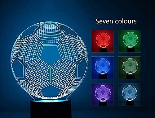 Creatieve LED bruisende 3D-tafellamp voetbal vorm home decoratie gadget nachtlampje kinderen elektronische verlichting
