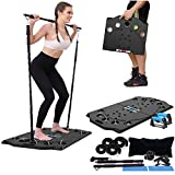 Sokiss Portable Home Gym | 10-in-1 Home Gym Equipment with Resistance Bands | Push Up Bars Set | Foldable Push Up Board Strength Training for Full Body Workouts System